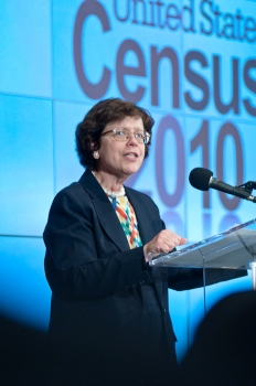 Acting Deputy Secretary Rebecca Blank speaks to Census 2010 crowd