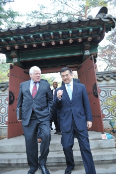Congressman Jim McDermott with Commerce Secretary Gary Locke, South Korea – April 26, 2011