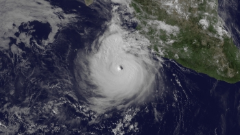 Satellite photo of Hurricane Dora, July21,  2011