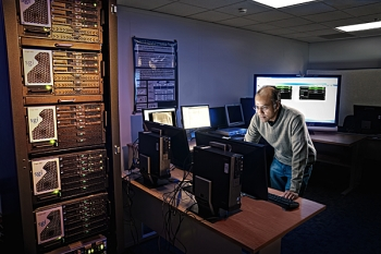 Computer scientist Murugiah Souppaya investigates security techniques for protecting cloud computing systems from cyber attack  (Photo © Nicholas McIntosh)
