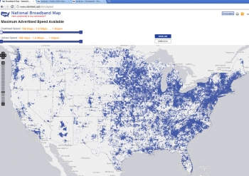 Image of interactive broadband map