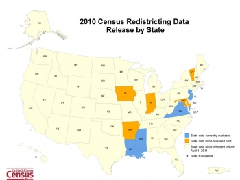 2010 Census Redistricting Data Release by State