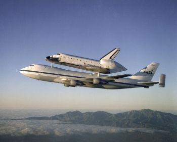Shuttle Piggybacking on an Airplane