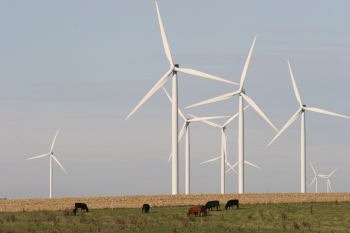 Wind turbines on a wind farm (DIS photo)