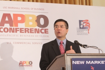 Secretary Gary Locke Addresses Small Business Owners at APBO about the Resources that the Government is Providing to Connect Small- and Medium-sized Businesses with Foreign Buyers,