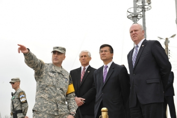 Secretary Locke, Reps Crowley and Reichert Overlook North Korea from the DMZ