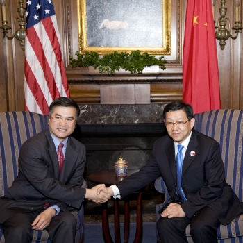 Secretary Locke and Chinese Minister of Commerce, Chen Deming, Pose For a Photo During Their Meeting