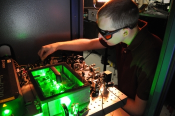 Young scientist works on a collaborative project