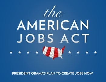The American Jobs Act Banner