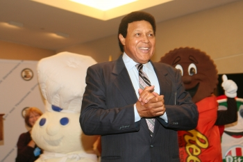 Chubby Checker along with the Pillsbury Dough Boy and a Reese's Peanut Butter Cup at the USPTO 2011 National Trademark Expo
