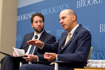 Director Kappos takes questions while at the Brookings Institute