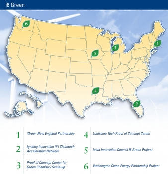 Map of all the i6 Green Investments