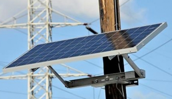 Image of grid interactive PV system installed on a utility pole (Photo: Energy.Sandia.gov)