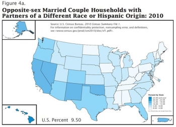 Infographic: 2010 Census Shows Interracial and Interethnic Married Couples Grew by 28 Percent over Decade