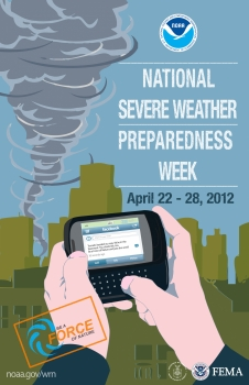 Poster for National Severe Weather Preparedness Week