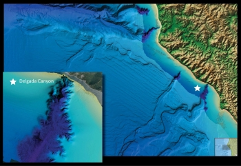 A view of Delgada Canyon offshore Northern California, as portrayed in NOAA's new online viewer.