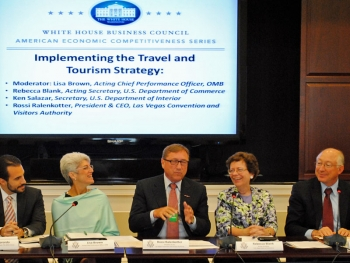 Acting Secretary Rebecca Blank joined business leaders from across the country earlier this week at the White House Business Council American Economic Competitiveness Forum on Travel and Tourism
