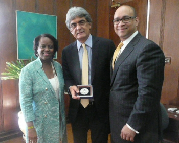 With Director Hinson (right) are Ms. Reta Jo Lewis, S/Special Representative for Global Intergovernmental Affairs, U.S. Department of State Mr. Julio Semeghini, Secretary of State, São Paulo, Planning and Regional Development