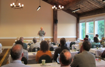 PTO Director David Kappos addresses the Penobscot Bay Regional Chamber of Commerce in Rockport, Maine