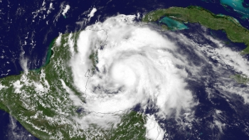 Satellite image of Hurricane Ernesto taken on Aug. 7, 2012 in the Gulf of Mexico (NOAA)