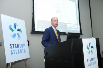 Director Kappos addressing Startup Atlanta (Photo by Bytegraph.com. Used with permission)