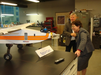 Acting Deputy Secretary Blank Inspects an Unmanned Aerial Vehicle