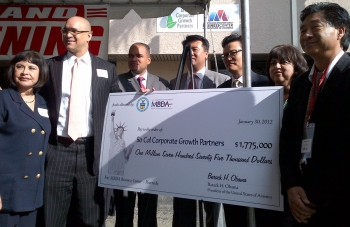 MBDA National Director David Hinson Presents SoCal Corporate Growth Partners for with a grant for $1.75 million