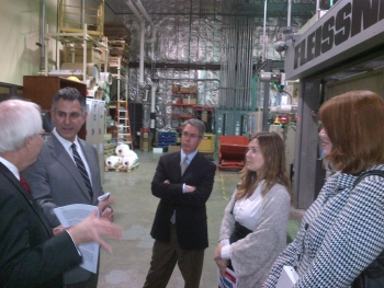 Sanchez tours manufacturing plant in North Carolina