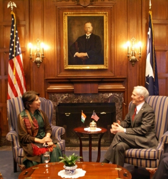 Secretary Bryson meets with India's Ambassador to the United States Nirupama Rao