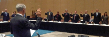 Secretary Bryson Swearing in the Travel and Tourism Advisory Board