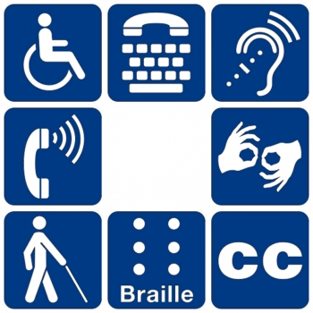 Images of universal disability symbols