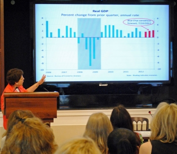 Acting Secretary Blank Presenting to the Women in the Financial Sector: A White House Forum on Economic Growth