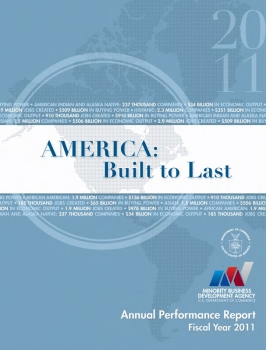 Front Cover of the Minority Business Development Agency's FY 2011 Annual Performance Report