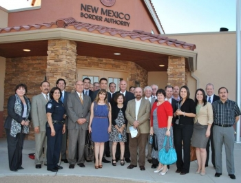 Assistant Secretary Camuñez is joined by public and private stakeholders after recognizing the New Mexico Border Authority for their efforts to support the local community.