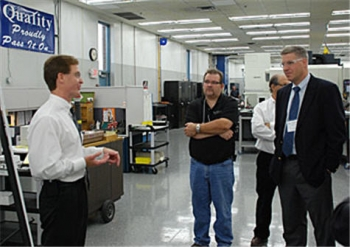 Image: NIST Under Secretary and Director Patrick Gallagher tours Omega Plastics