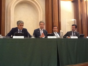 Panel at American Chamber of Commerce event in Italy
