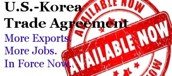 Korea Trade Agreement Enters into Effect