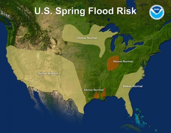 U.S. Spring Flood Risk Map for 2012