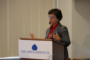 Deputy Secretary Blank delivers remarks at the Aspen Institute (Photo: Steve Johnson, Aspen Institute)