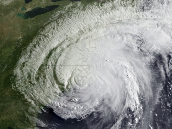 Satellite image of Hurricane Irene, 2011