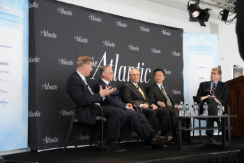 Under Secretary of Commerce and NIST Director Patrick Gallagher (left) participates in panel on advanced manufacturing