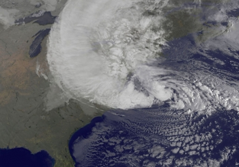 Satellite view of Superstorm Sandy, 10-29-12