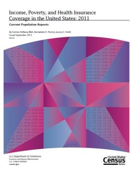 Cover: Income, Poverty and Health Insurance Coverage in the United States Report