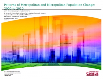 "Image of cover of "" Patterns of Metropolitan and Micropolitan Population Change: 2000 to 2010"""
