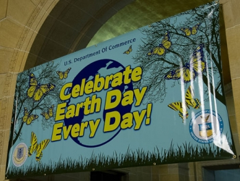 Celebrate Earth Day Every Day Sign (photo credit: Dana Paul Franz)