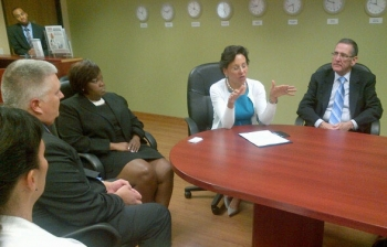 Secretary Penny Pritzker meets with Houston-area Commerce Employees.
