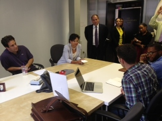 Secretary Penny Pritzker hears from entrepreneurs at Idea Village in New Orleans, Louisana