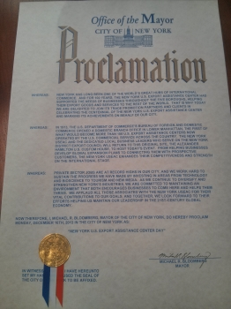 Image of mayor's proclamation
