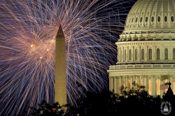 Fireworks display (Photo: Architect of the Capitol)