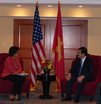 U.S. Secretary of Commerce Penny Pritzker today met with President Truong Tan Sang of the Socialist Republic of Vietnam
